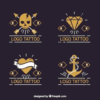 Collection de logo jaune pour tatouage