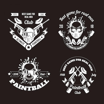 Collection de logo de jeu de paintball