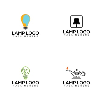 Collection de logo de lampe