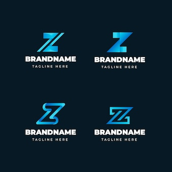 Collection de logo de lettre dégradé #z