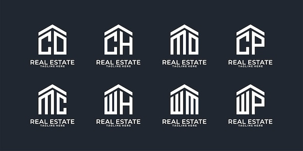 Collection de logo lettre immobilier
