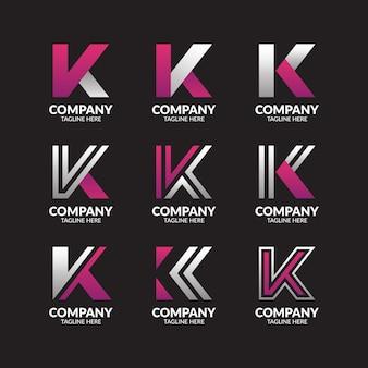 Collection de logo lettre k minimaliste