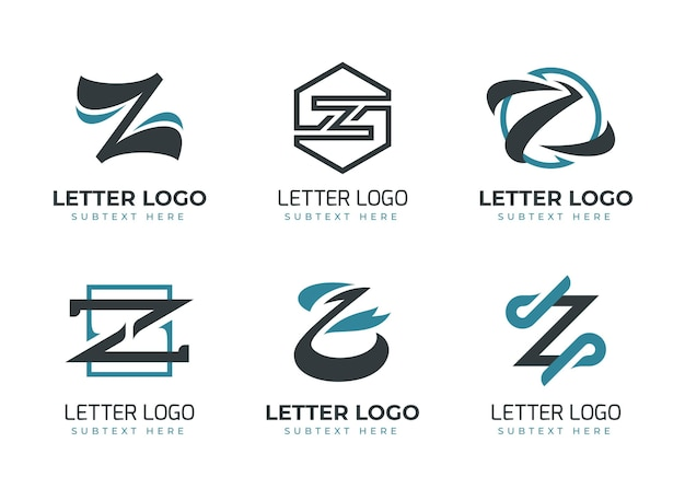 Collection de logo de lettre plat #z