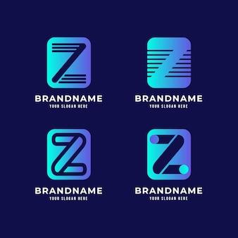 Collection de logo de lettre z dégradé
