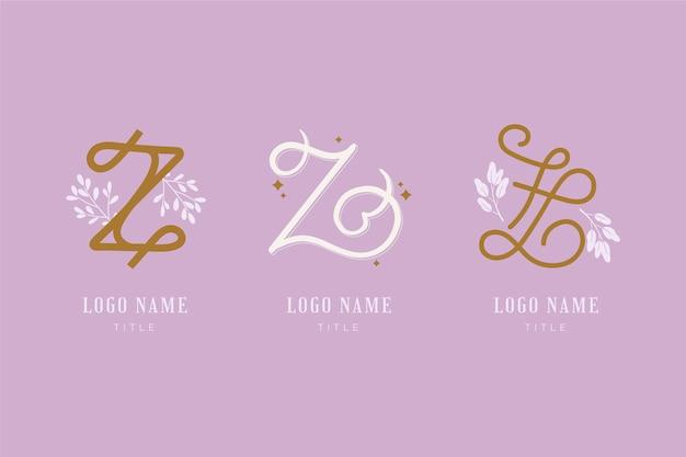 Collection de logo de lettre #z peinte à la main