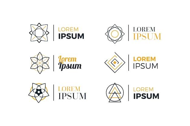 Collection de logo linéaire linéaire abstrait