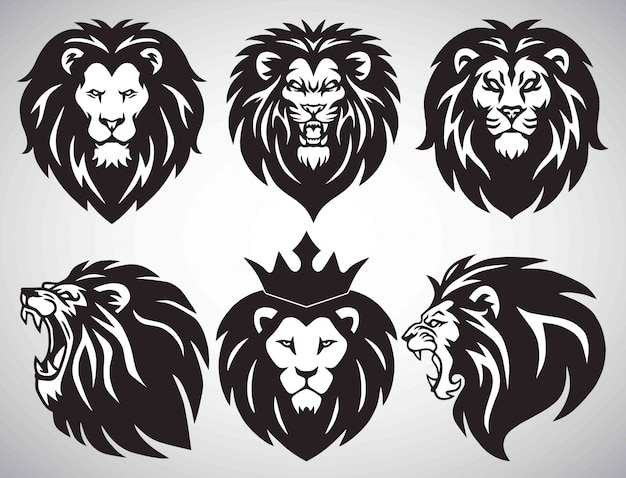 Collection de logo de lion.