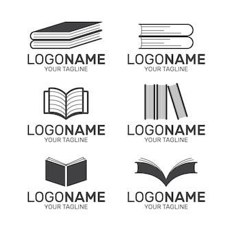 Collection de logo de livre design plat