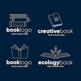 Collection de logo de livre plat