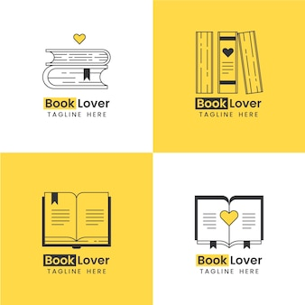 Collection de logo de livre