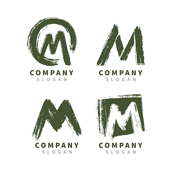 Collection de logo m peint à la main