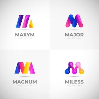 Collection de logo m