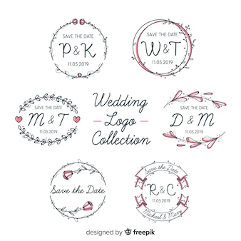 Collection de logo de mariage