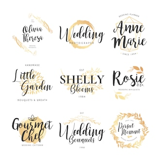 Collection de logo de mariage