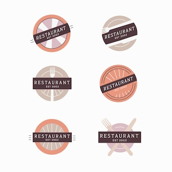 Collection de logo de marque de restaurant vintage