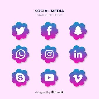 Collection de logo de médias sociaux