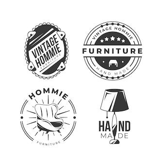 Collection de logo de meubles rétro