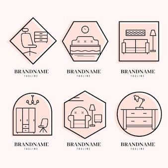 Collection de logo de meubles