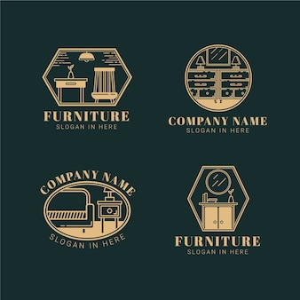 Collection de logo de meubles