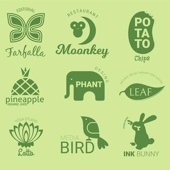 Collection de logo minimal deux couleurs