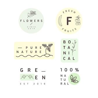 Collection de logo minimal entreprise naturelle