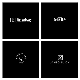 Collection de logo minimal