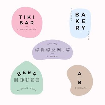 Collection de logo minimale sur fond de marbre