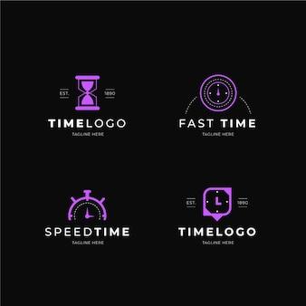 Collection de logo de montre plate