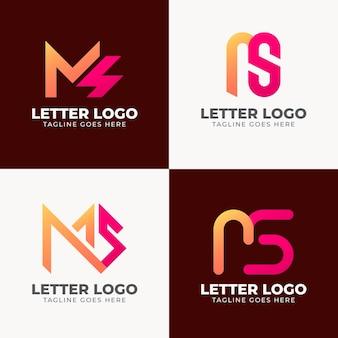 Collection de logo ms dégradé