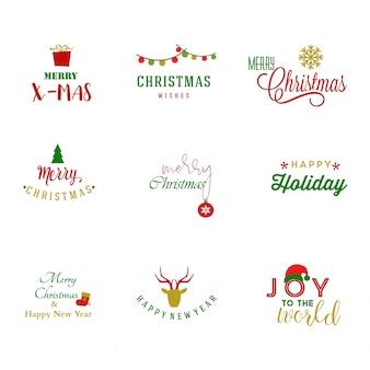Collection de logo de noël