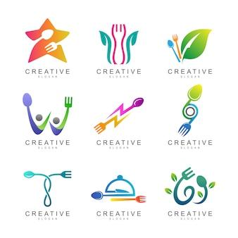 Collection de logo de nourriture et de restaurant