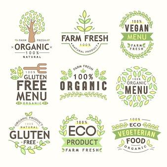 Collection de logo organique