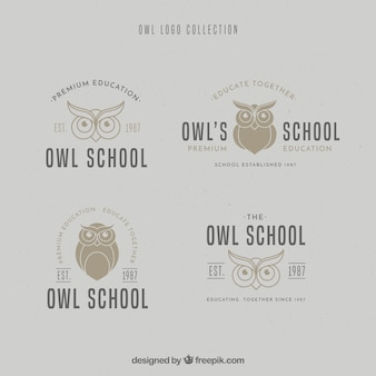 Collection de logo owl