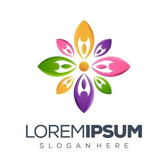 Collection de logo people flower