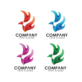 Collection de logo phoenix