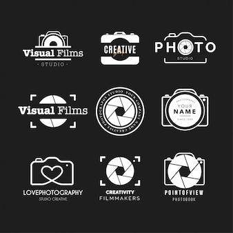 Collection de logo de photographie