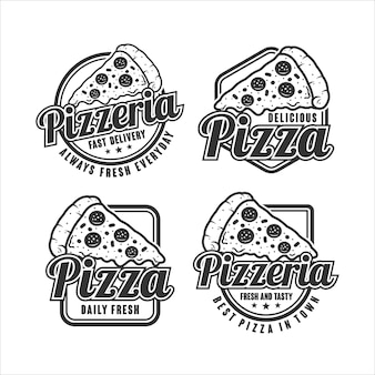Collection de logo de pizzeria