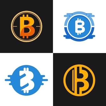 Collection de logo plat bitcoin