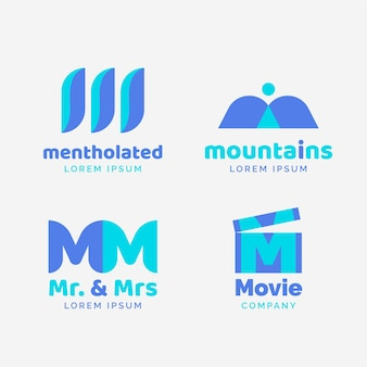 Collection de logo plat m