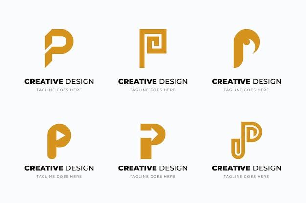 Collection de logo plat p