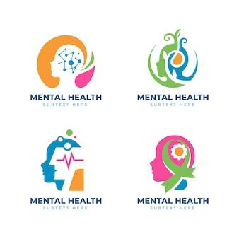 Collection de logo plat de santé mentale