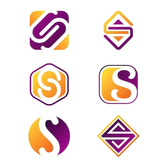 Collection de logo plat
