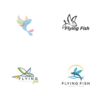 Collection de logo de poisson volant
