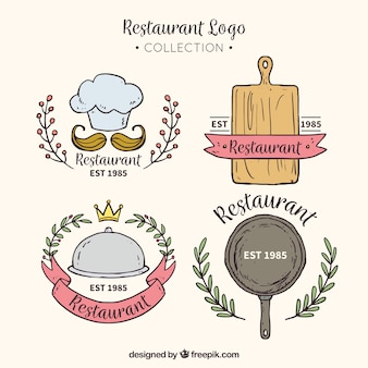 Collection de logo de restaurant moderne