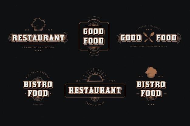 Collection de logo restaurant rétro
