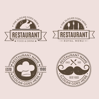 Collection de logo de restaurant rétro