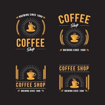 Collection de logo rétro café
