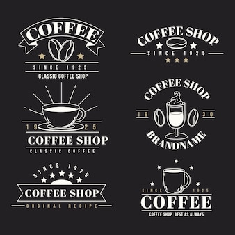 Collection de logo rétro coffee shop