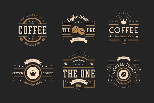 Collection de logo rétro coffee shop