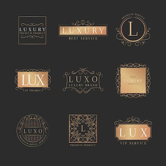 Collection de logo rétro de luxe